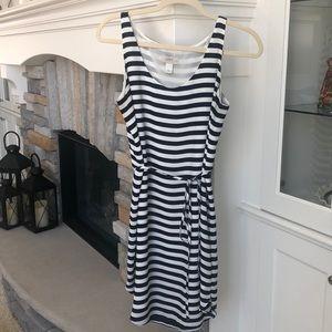 Loft Blue & White Striped Dress